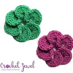 This pretty unique flower is wonderful for hats and baby clothes. It looks as 3 dimension when it's finished. It can be done many different colors. Crochet Flower Tutorial, Crochet Flower Patterns, Crochet Blanket Patterns, Crochet Flowers, All Free Crochet, Learn To Crochet, Easy Crochet, Crochet Bookmarks, Unique Flowers