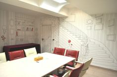 Image PR - Bucharest meeting room: HP PVC-free Wallpaper, custom design created by Matei Apostolescu