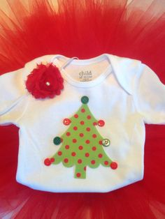 Christmas Tree Onesie Outfit first Christmas  by SDKCreations, $35.00
