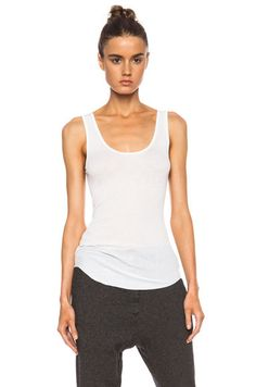 White tank top by Isabel Marant.
