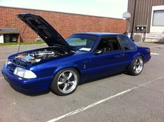 blue foxbody mustang