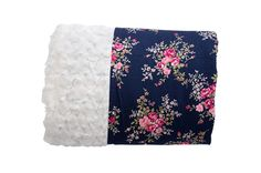 Vintage Florals in Navy Reversible Minky Blanket - Levi & Evelyn