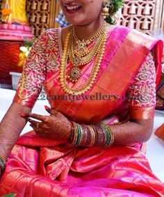 South Indian Bride Traditional Gold Sets | Jewellery Designs