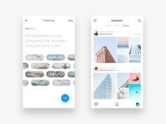 56 examples of content-stream layout – Muzli -Design Inspiration