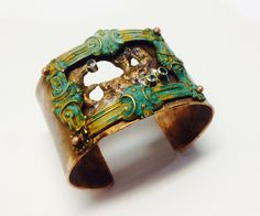 Frame Cuff, Robyn Cornelius, Little Rock Jewellery Studio, Brass Frame, Copper, Sterling, Apetite Gemstones