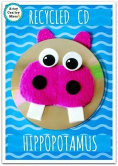 Creaciones con CDcara de hipopótamo