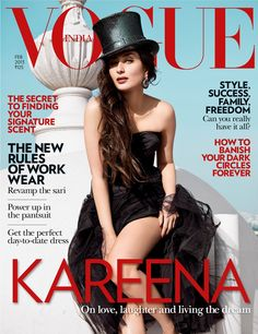 Hot Kareena Kapoor Khan On Vouge Magazine Cover February Issue - Star BollyOne
