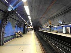 Françoise Schein   Estação / Station Parque   Metropolitano de Lisboa / Lisbon Underground   1994 #Azulejo #FrançoiseSchein #MetroDeLisboa