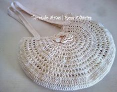 Handbag - No pattern but should be easy to replicate Handmade Handbags, Handmade Bags, Purse Patterns, Crochet Patterns, My Bags, Purses And Bags, Diy Purse, Crochet Purses, Knitted Bags