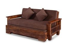 Buy Solid Wood Sofa cum Bed Online in India. Sale on Wooden Sofa cum bed. Shop new Sofa design in India at Best prices. Free Shipping Easy EMI & Easy Returns Wood Sofa, Teak Wood, Sofa Design, Furniture Design, Interior Design, Sofa Come Bed Furniture, Wooden Sofa Set Designs, Glass Kitchen Cabinet Doors, Bed Price