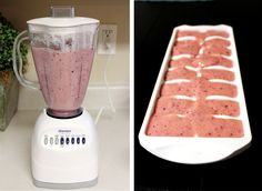 Nausea Popsicles 3 cups strawberries  2 bananas 1 cup blueberries 1 cup apple juice 1 cup yogurt, vanilla 2 Tbsp. honey 1 Tbsp fresh grated ginger  1. Wash and cut up fruit, and add to the blender. 2. Add remaining ingredients to blender and blend on high until smooth. 3. Pour into popsicle molds (or an ice tray if you forget to buy the popsicle molds…) 4. Freeze!