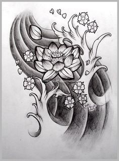 Japanese Lotus Tattoo Design                                                                                                                                                      Más                                                                                                                                                     Más