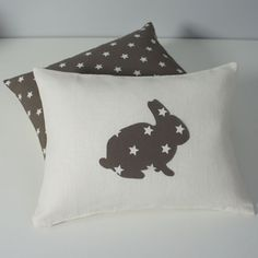 Online shopping from a great selection at Handmade Store. Sewing Pillows, Diy Pillows, Throw Pillows, Embroidery Applique, Embroidery Designs, Bunny Room, Couture Sewing, Thing 1, Decoration