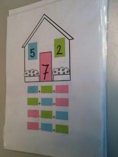 Family fact- huisjes met 3 getallen