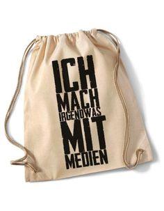 "Jutebeutel mit Spruch ""Irgendwas mit Medien"" // totebag with writing by Mad in Berlin via DaWanda.com"