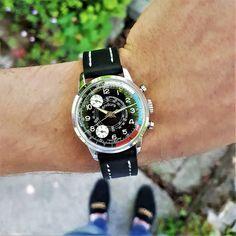 Vintage Mens Endura Chronograph Watch with Reverse Panda Dial Save The Pandas, Vintage Watches, Chronograph, Mens Fashion, Shots, Guys, Style, Moda Masculina, Swag