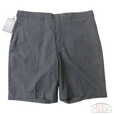 Doc & Amelia 112968 Men's Flat Front Modern Fit Uniform Shorts, Heather Grey, 38