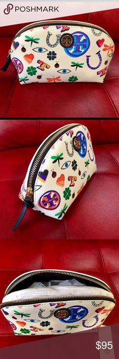 """Tory Burch Kerrington Large Makeup Bag Brand new with tag.     L- 8"""", H- 5.25"""", D- 3.3"""" Tory Burch Bags Cosmetic Bags & Cases"""