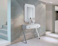 Consolas de Diseño Moderno : Modelo METAL CROSS Blanco