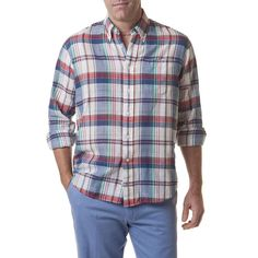 Chase Long Sleeve Shirt in Beach Madras by Castaway Clothing - FINAL SALE