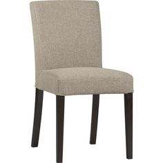 Lowe Khaki Side Chair in Dining, Kitchen Chairs | Crate and Barrel