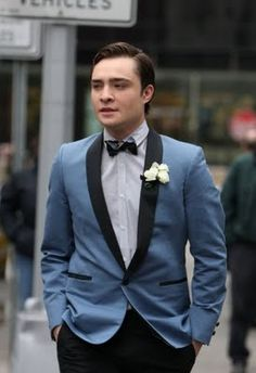 """Another pinner just said """"Blue Tux"""" but I would like to respectfully add in """"Chuck Bass from Gossip Girl!"""""""