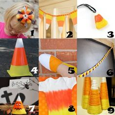 Link Love: Super Sweet Candy Corn Crafts - So many fall crafts, so little time!
