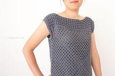 Granny squares short sleeved shirt
