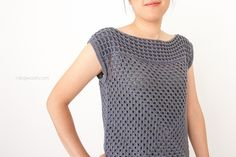 Granny squares short sleeved shirt
