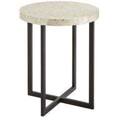 Elegant and modern, our hand-laid Mother-of-Pearl Accent Table is a great piece. And its mosaic tiling design brings a grand quality to any room. We guess you could say it's a great, grand, Mother-of-Pearl Accent Table.