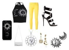 """""""the sun and the moon."""" by fashiondiva-xoxo ❤ liked on Polyvore featuring Boohoo, Polo Ralph Lauren, Giuseppe Zanotti, Akira, Carolina Glamour Collection, Diego Percossi Papi and Stefanie Sheehan Jewelry"""