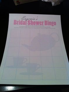 Bridal Shower Tea Party stress freeFULL PARTY PACKAGE mailed to your home by PaperDressDesigns, $125.00