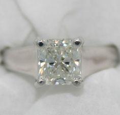 #jewelry PLATINUM ~ VVS2 / I Color 1.54 Ct GIA DIAMOND Solitaire Engagement Ring $16,700 please retweet