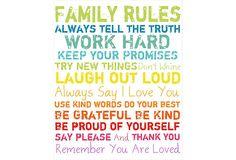 Family Rules Giclée on Canvas, Small on OneKingsLane.com