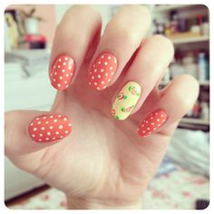caroline burke: nail art DIY! polka dots and florals