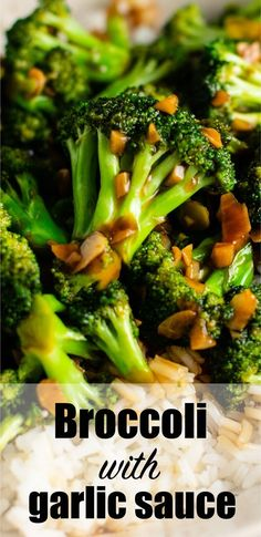 Takeout style homemade broccoli with garlic sauce! The homemade stir fry sauce is the best! Takeout style homemade broccoli with garlic sauce! The homemade stir fry sauce is the best! Broccoli With Garlic Sauce, Fried Broccoli, Broccoli Stir Fry, Broccoli Recipes, Vegetable Side Dishes, Vegetable Recipes, Vegetarian Recipes, Healthy Recipes, Cooking Vegetables