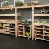 #DIY Workshop Shelves by Ana White. Visit Ryobi Nation Dream Workshop for instructions and more ideas!