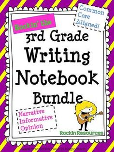 interactive math notebooks for third grade   INTERACTIVE WRITING NOTEBOOK GRADE 3 WITH ALL COMMON CORE WRITING ...