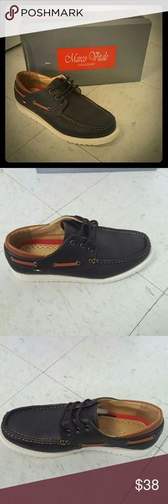 Mens coffee laceup boat shoe size 7.5 Mens coffee laceup boat shoe size 7.5 Marco Vitale Collezione  Shoes Boat Shoes