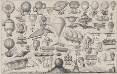 Image of ballloons, airships, and other flying machines