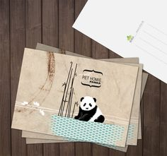Postkarte Animal Print Pet Homie Panda (70413) www.s-chick.de