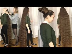 RealRapunzels - Interrupted by Rapunzel (preview) - YouTube Thick Hair Bob Haircut, Long Hair Play, Long Hair Video, Playing With Hair, Super Long Hair, Dream Hair, Hair Videos, Bun Hairstyles, Rapunzel