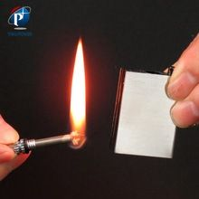[Outdoor Sports] YP-SA-0052 Outdoor Survival Gear Waterproof Stainless Steel Silver Safety Match Lighter Million Times Metal Match Stick