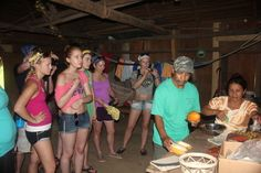 hanging out with our Blue Creek guide Heraldo and his family for a cocoa making demonstration