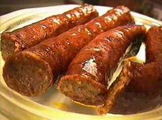 Hungarian Sausage recipes – in English! Also appetizers, stews, eggs… Hungarian Sausage recipes – in English! Also appetizers, stews, eggs… Hungarian Sausage Recipe, Hungarian Recipes, Hungarian Food, Homemade Jerky, Homemade Sausage Recipes, Jerky Recipes, Meat Recipes, Recipies, Charcuterie