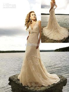 I want to get remarried. to the same man Wholesale Cheap 2012 Lace Vintage Wedding Dress Designer Beading Bridal Gowns V Neck Floor Length, Free shipping, $163.50-195.50/Piece | DHgate