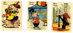 vintage old maid cards circus theme Circus Theme Party, Party Themes, Vintage Cards, Vintage Toys, Circus Peanuts, Sideshow, Board Games, Cool Photos, Jewelry Design