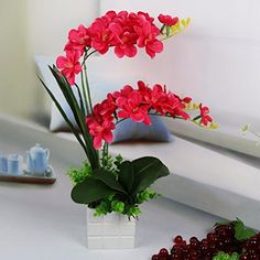 Lights & Lighting Smart Nightlight Outdoor Fake Phalaenopsis Solar Light Potted Plant Energy Saving Led Decorative Indoor Flower Hotel Bedroom Office