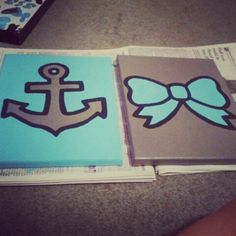 anchor and bow canvas