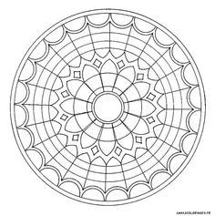 Coloriage de mandalas, Mandala vitraux église a imprimer
